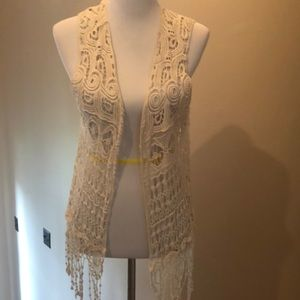 Tops - Crocheted Lace vest